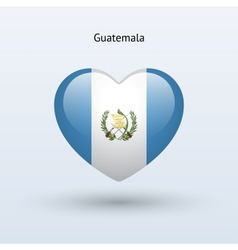 Love guatemala symbol heart flag icon vector