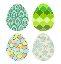 Set of decorative Easter eggs vector image