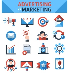 Advertising marketing icons vector