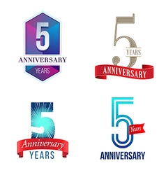 5 years anniversary symbol vector