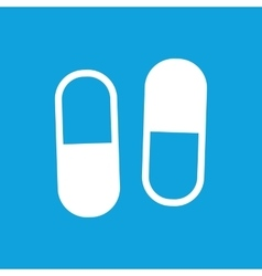 Two pills icon simple vector