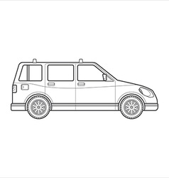 Outline wagon car body style icon vector