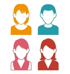 Avatars people design vector