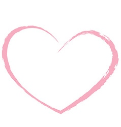 Pink heart drawing love valentine vector