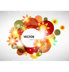 Abstract retro floral background vector