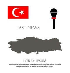breaking news Turkey design vector image vector image