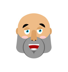 Brutal man happy emoji men face merry emotion vector