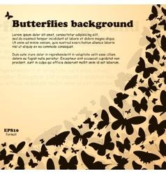 Butterfly swirl vector image