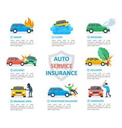 Car insurance auto service vector