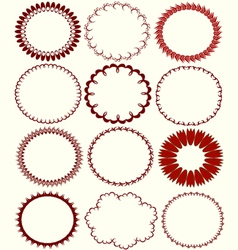 circular patterns vector image vector image
