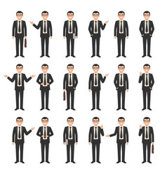 collection of a young businessmen vector image