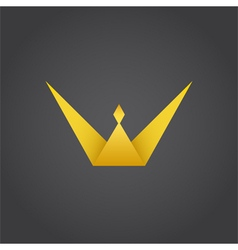 Crown king w letter logo vector