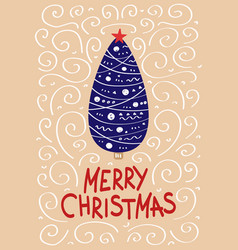 cute christmas cards with a picture of a christmas vector image