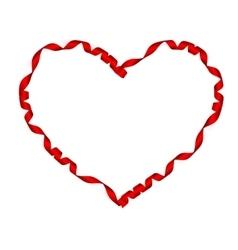 Elegant Red satin gift Ribbon EPS 10 vector image