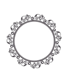 elegant victorian frame icon vector image vector image