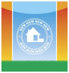 emblem of the new house vector image vector image