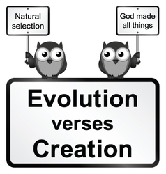 Evolution verses Creation vector image