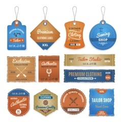 Exclusive Clothing Labels Set vector image vector image