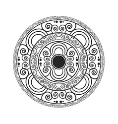 geometric circular pattern vector image