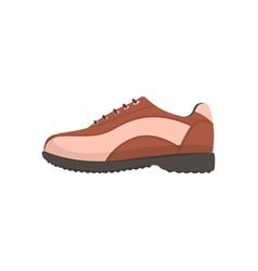 Golf shoe golfer sport equipment cartoon vector