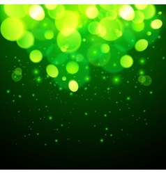 Green magic bokeh effect abstract background vector