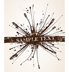 Grunge Splatter Background vector image vector image