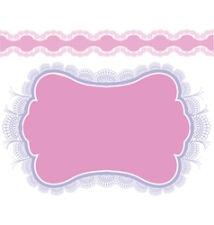 Lace frame design for card vintage doily isolated vector