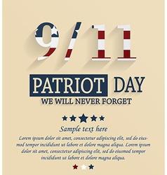 Patriots day vector