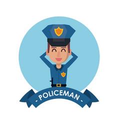 Policeman cute cartoon vector