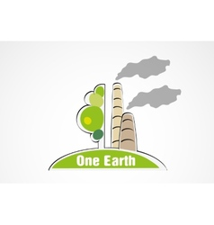Pollution of nature concept of ecology vector