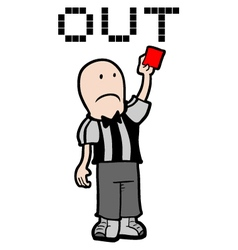 Red card vector