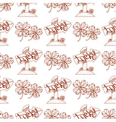 Seamless pattern with a wooden pointer with vector