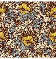 Seamless vintage fantasy pattern vector image