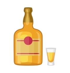 Whiskey bottle vector