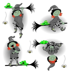 Witch Frog and a Spider vector image vector image