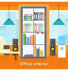 Modern office interior vector