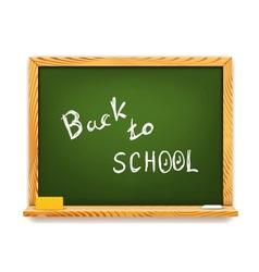 Chalkboard Back to School vector image