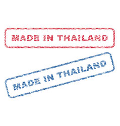 made in thailand textile stamps vector image