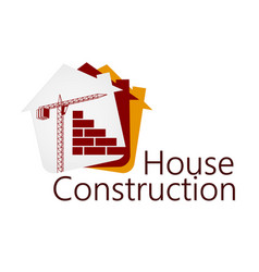 Construction of buildings symbol vector
