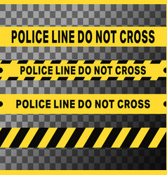 Police line do not cross tapes vector