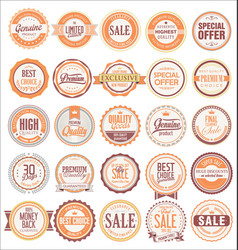 Retro badges and labels collection vector