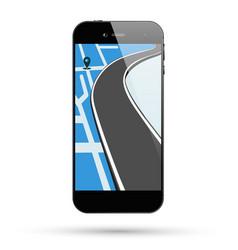 Smartphone map location vector