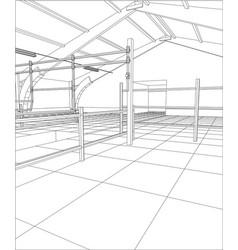 Abstract industrial building constructions milk vector