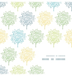Summer trees colorful frame corner pattern vector