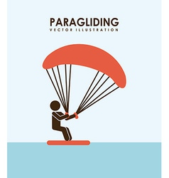 Paragliding design vector
