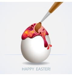 Easter egg painted vector