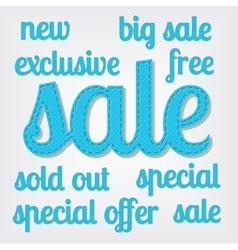 Sale titles vector