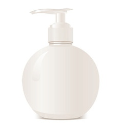 white bottle vector image