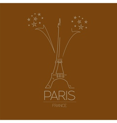 World landmarks paris france eiffel tower graphic vector