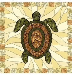 Stylized turtle style zentangle vector